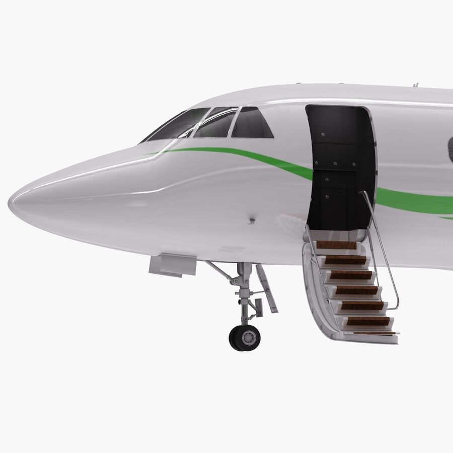 Dassault Falcon 2000LXS. Ożywiony. 6 royalty-free 3d model - Preview no. 13