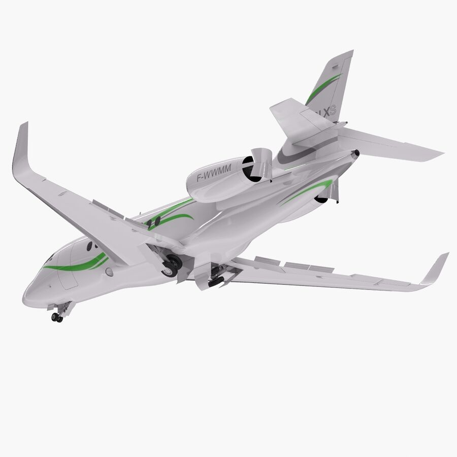 Dassault Falcon 2000LXS. Ożywiony. 6 royalty-free 3d model - Preview no. 11