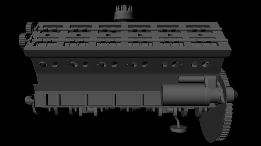 Silnik V12 royalty-free 3d model - Preview no. 3