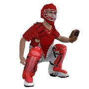 Receptor de béisbol aparejado modelo 3d