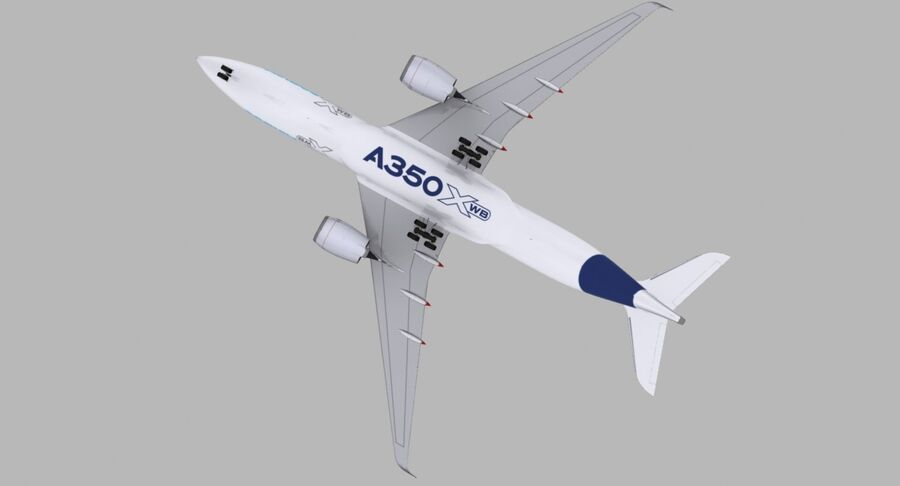 空中客车A350-900 royalty-free 3d model - Preview no. 22