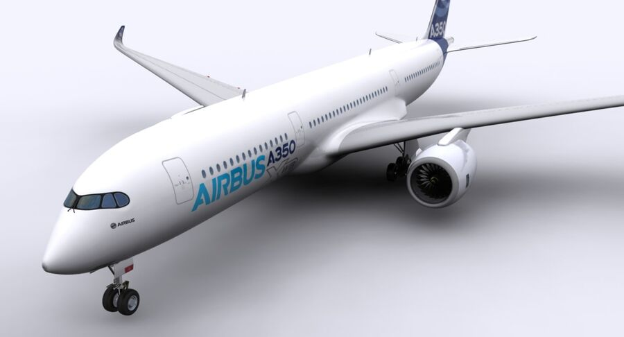 空中客车A350-900 royalty-free 3d model - Preview no. 16