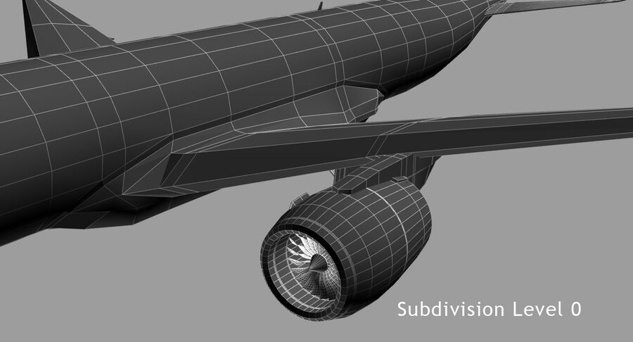 Airbus A350-900 royalty-free modelo 3d - Preview no. 10