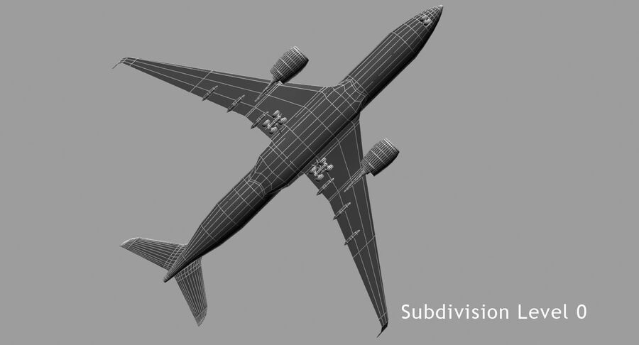 Airbus A350-900 royalty-free modelo 3d - Preview no. 6
