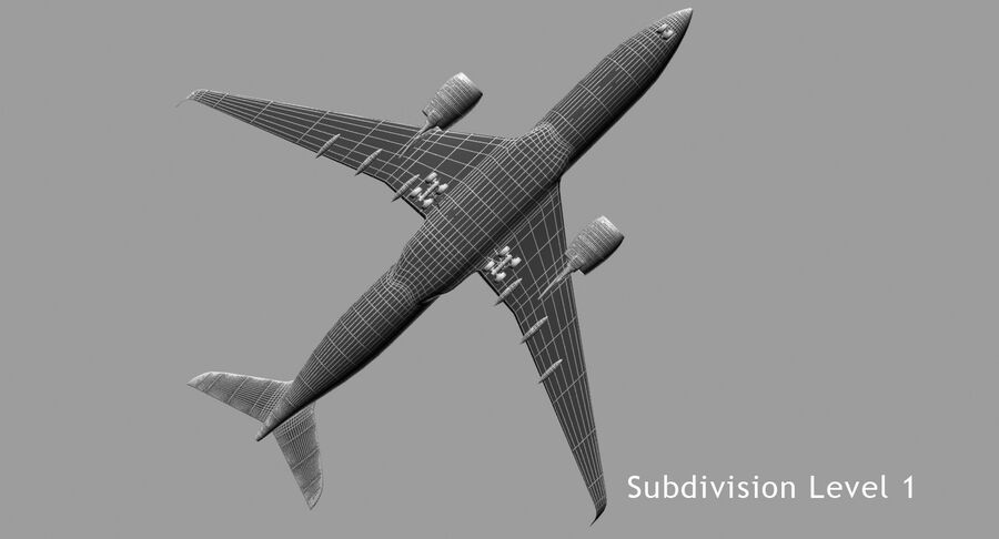 空中客车A350-900 royalty-free 3d model - Preview no. 7