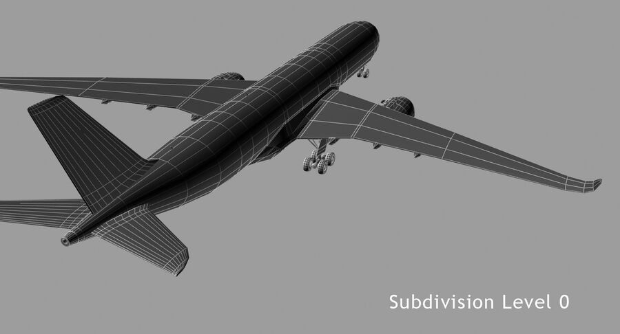 Airbus A350-900 royalty-free modelo 3d - Preview no. 8