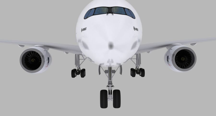空中客车A350-900 royalty-free 3d model - Preview no. 27