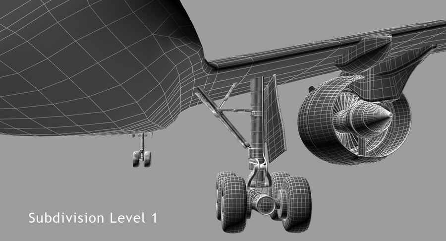 Airbus A350-900 royalty-free modelo 3d - Preview no. 15