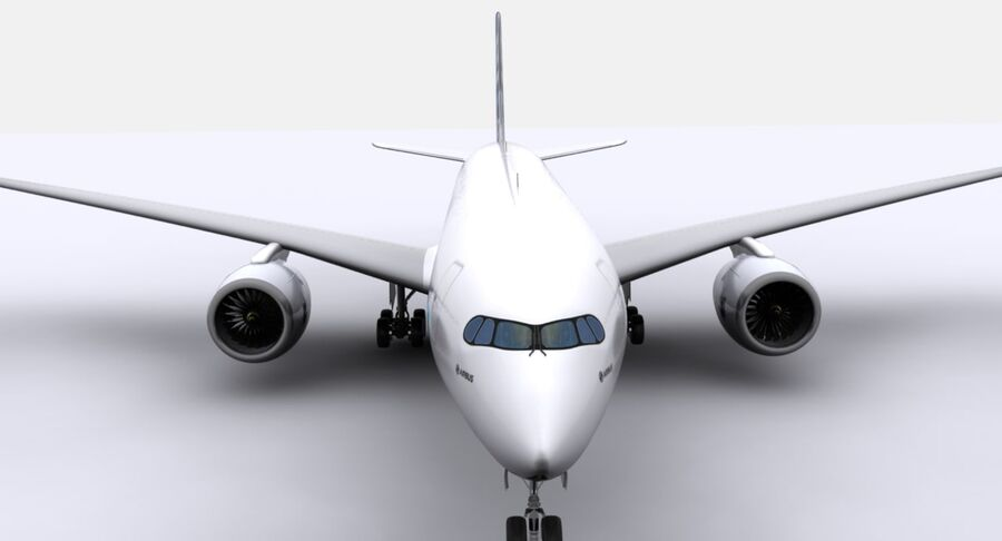 空中客车A350-900 royalty-free 3d model - Preview no. 18
