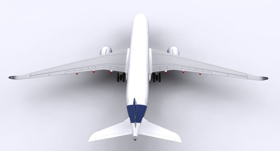 空中客车A350-900 royalty-free 3d model - Preview no. 19