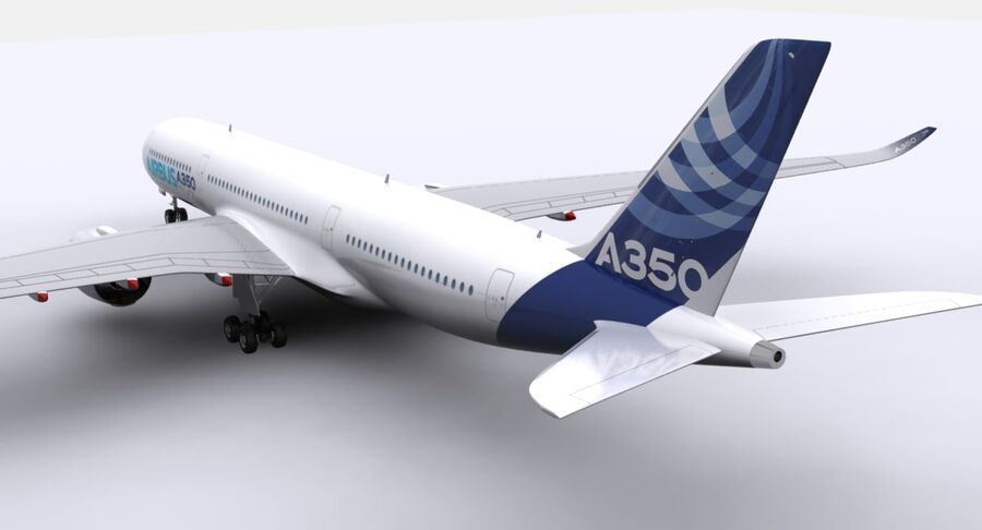 空中客车A350-900 royalty-free 3d model - Preview no. 17