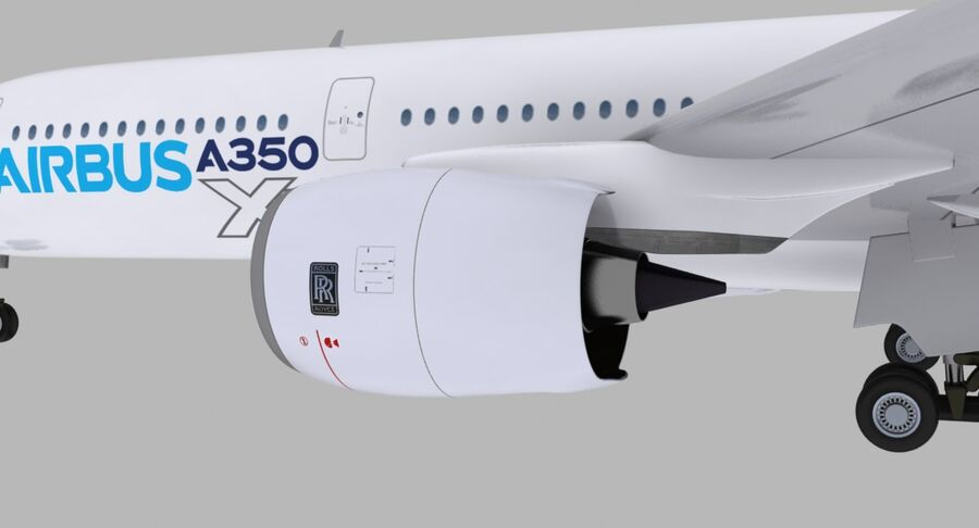 空中客车A350-900 royalty-free 3d model - Preview no. 25
