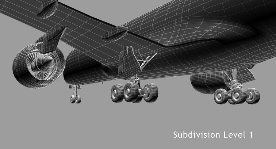 空中客车A350-900 royalty-free 3d model - Preview no. 13