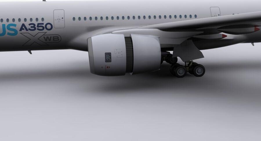 空中客车A350-900 royalty-free 3d model - Preview no. 20