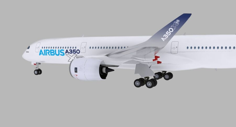 空中客车A350-900 royalty-free 3d model - Preview no. 24