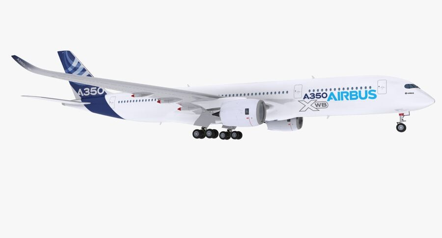 Airbus A350-900 royalty-free modelo 3d - Preview no. 2