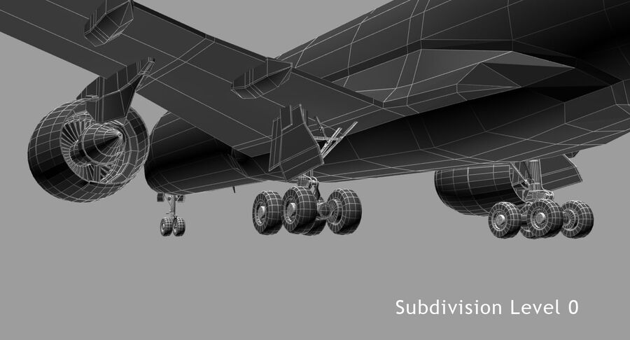 空中客车A350-900 royalty-free 3d model - Preview no. 12