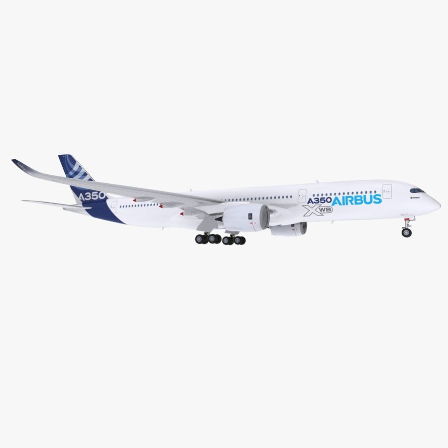 空中客车A350-900 royalty-free 3d model - Preview no. 1