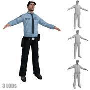 Ochroniarz 3 LODs 3d model