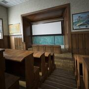 Sala de aula para a universidade 3d model