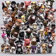 Chibii hayvanlar paketi 3d model