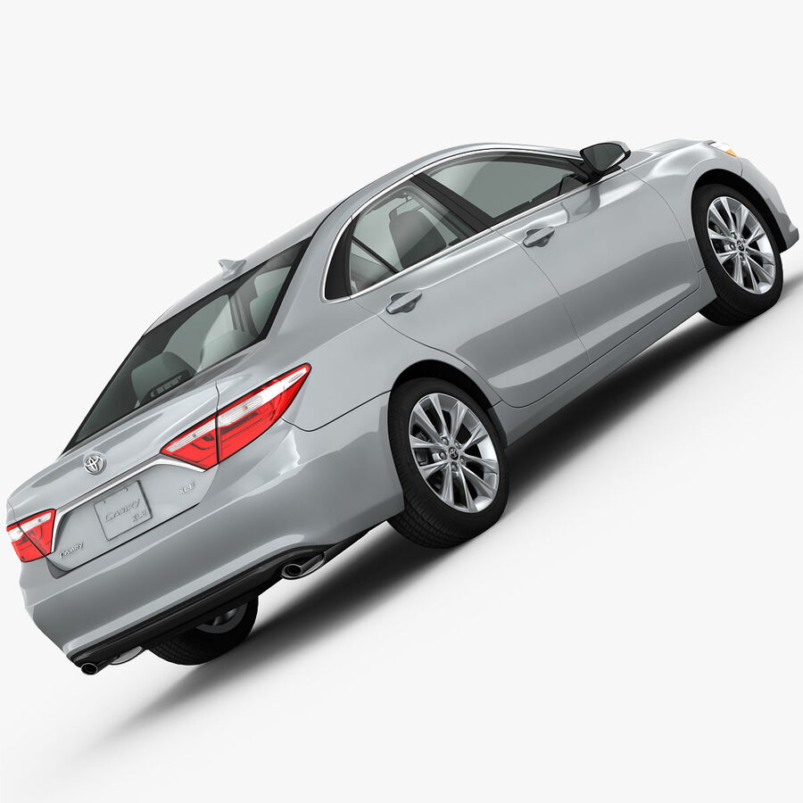 Toyota Camry XLE 2015 royalty-free 3d model - Preview no. 3