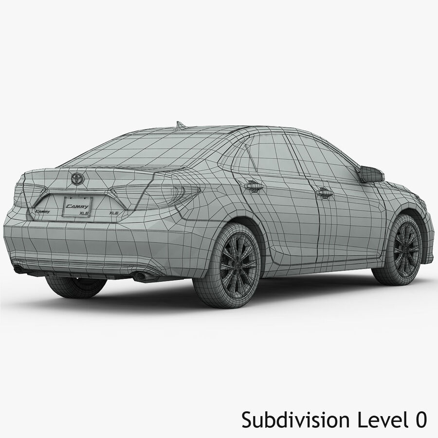 Toyota Camry XLE 2015 royalty-free 3d model - Preview no. 23