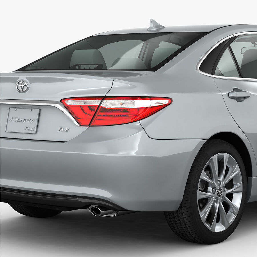 Toyota Camry XLE 2015 royalty-free 3d model - Preview no. 8
