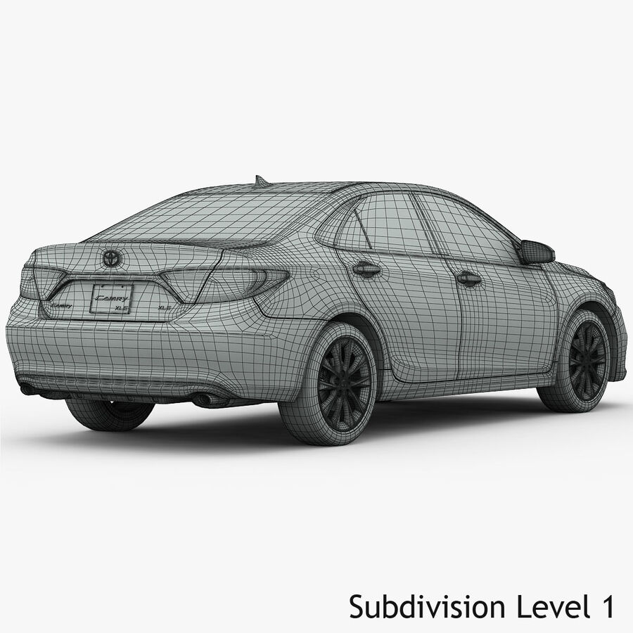 Toyota Camry XLE 2015 royalty-free 3d model - Preview no. 24