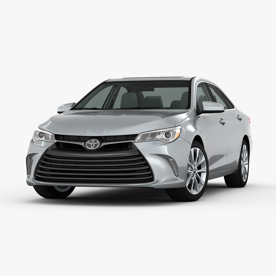 Toyota Camry XLE 2015 royalty-free 3d model - Preview no. 6
