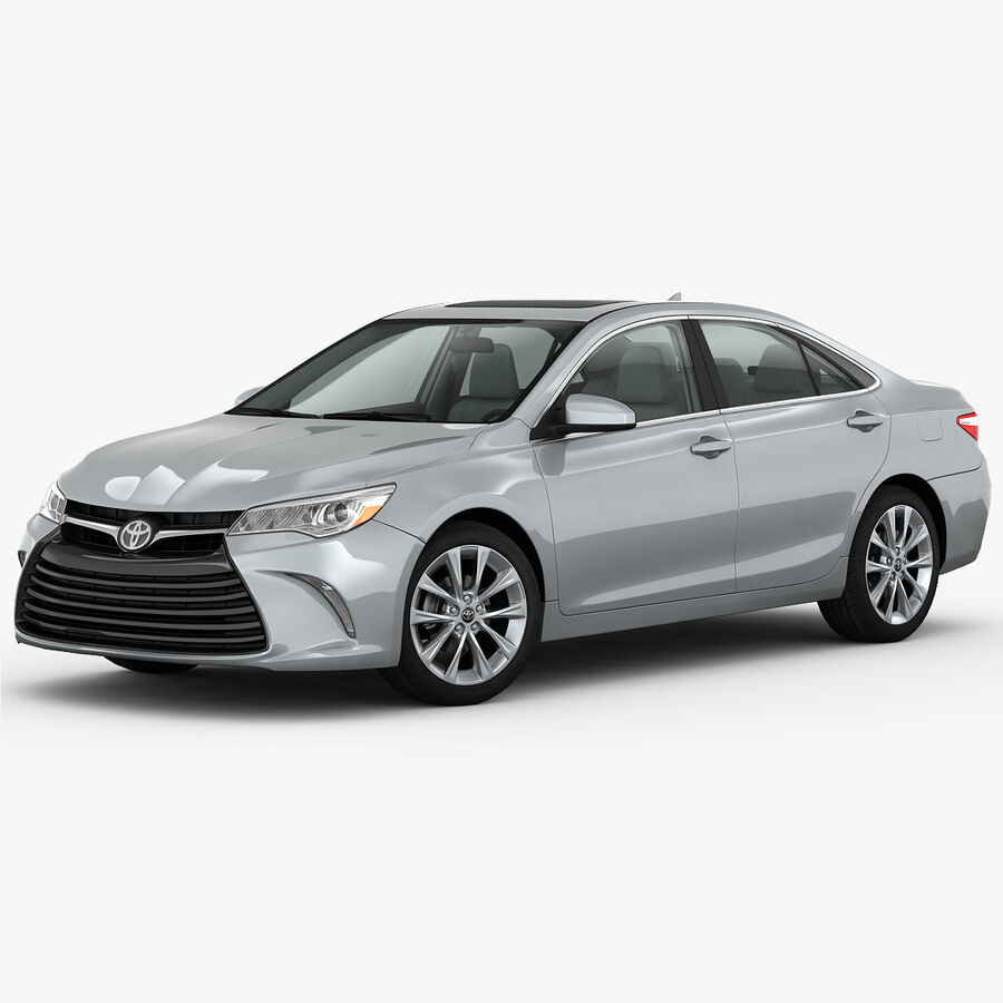 Toyota Camry XLE 2015 royalty-free 3d model - Preview no. 10