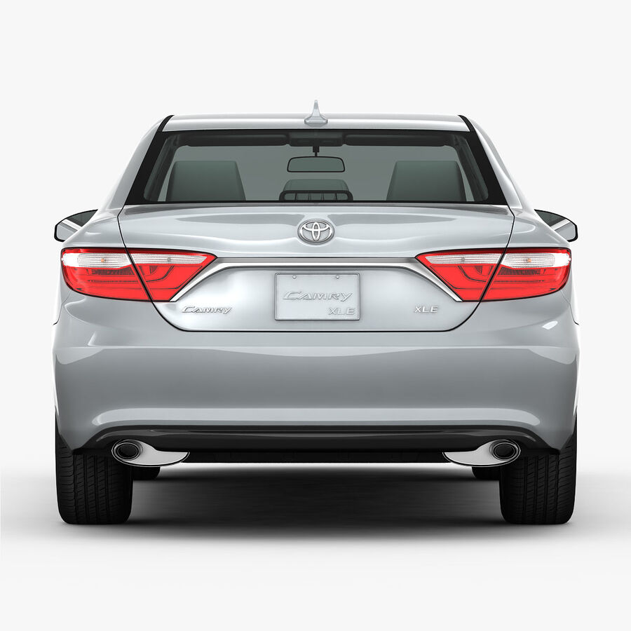 Toyota Camry XLE 2015 royalty-free 3d model - Preview no. 13