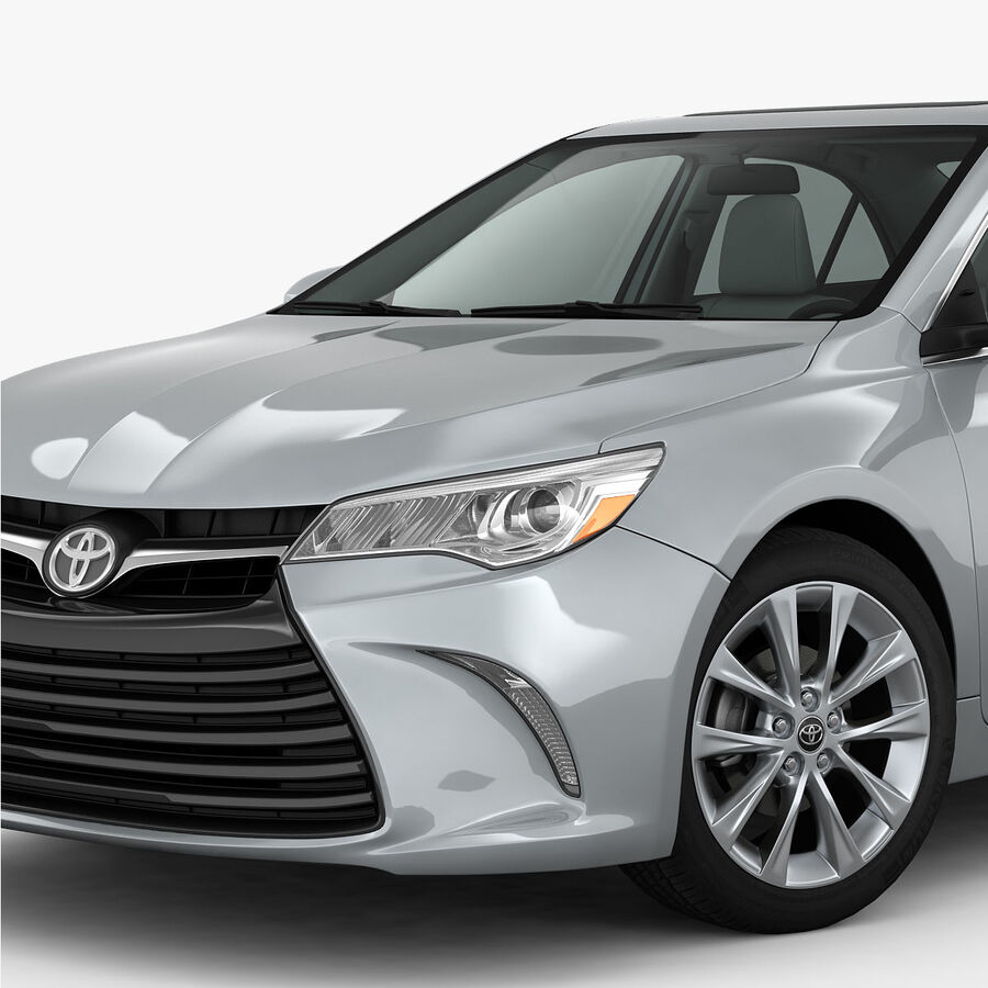 Toyota Camry XLE 2015 royalty-free 3d model - Preview no. 9