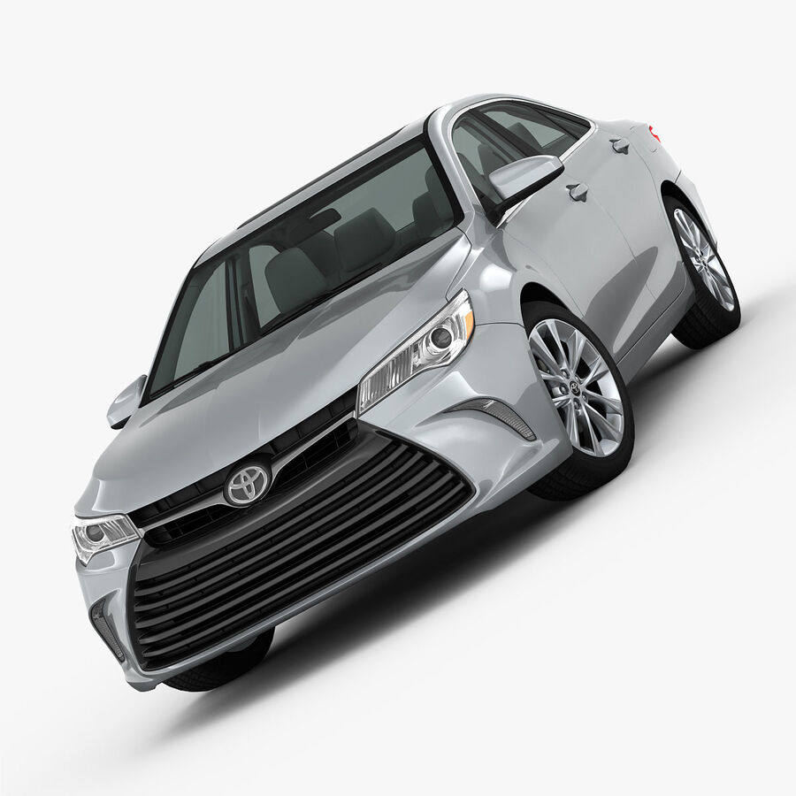 Toyota Camry XLE 2015 royalty-free 3d model - Preview no. 4