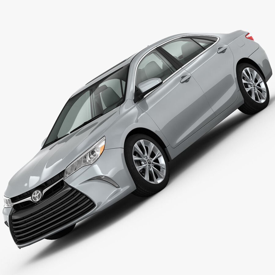 Toyota Camry XLE 2015 royalty-free 3d model - Preview no. 2