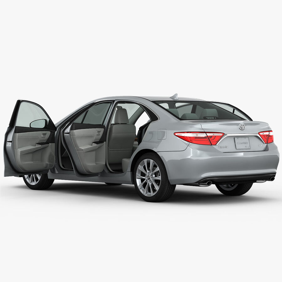 Toyota Camry XLE 2015 royalty-free 3d model - Preview no. 16