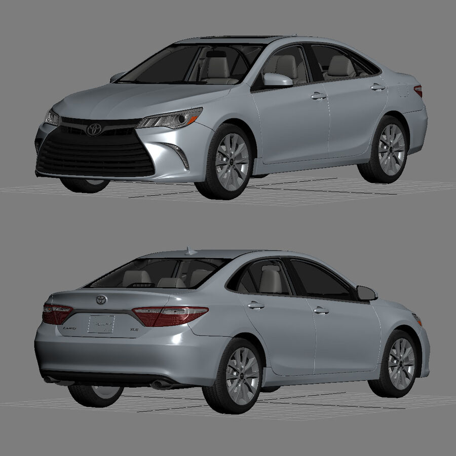 Toyota Camry XLE 2015 royalty-free 3d model - Preview no. 29
