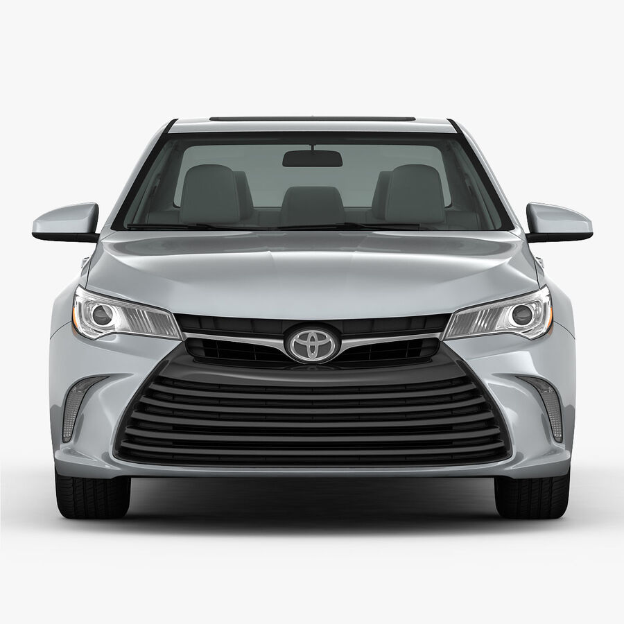 Toyota Camry XLE 2015 royalty-free 3d model - Preview no. 12