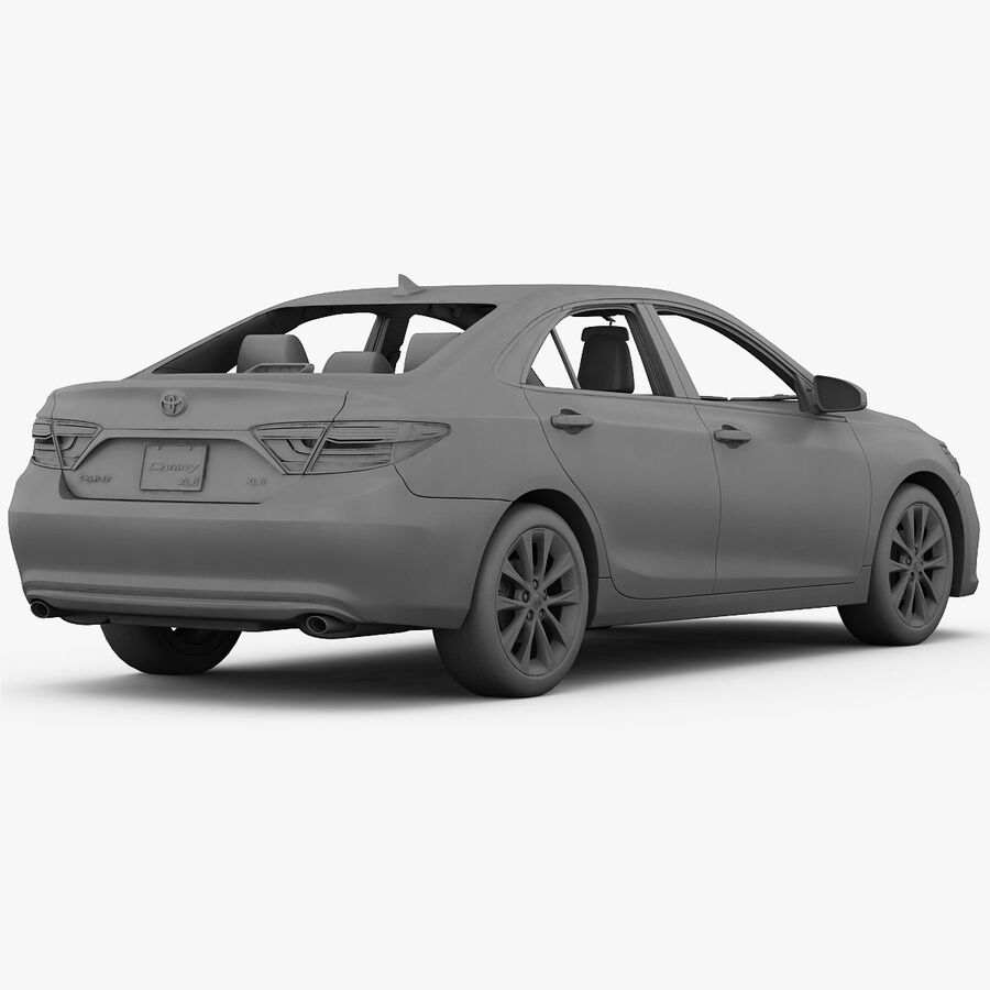 Toyota Camry XLE 2015 royalty-free 3d model - Preview no. 28