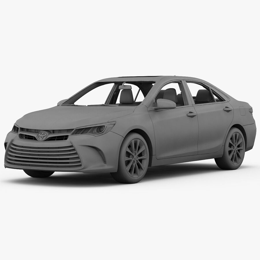 Toyota Camry XLE 2015 royalty-free 3d model - Preview no. 27