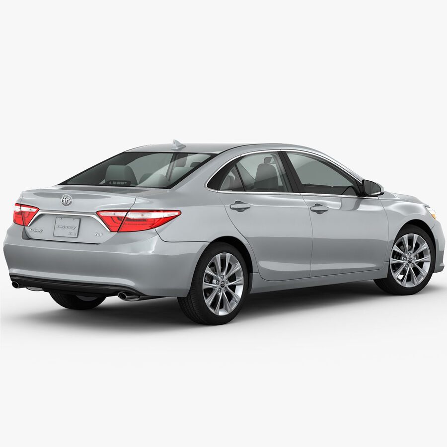 Toyota Camry XLE 2015 royalty-free 3d model - Preview no. 7
