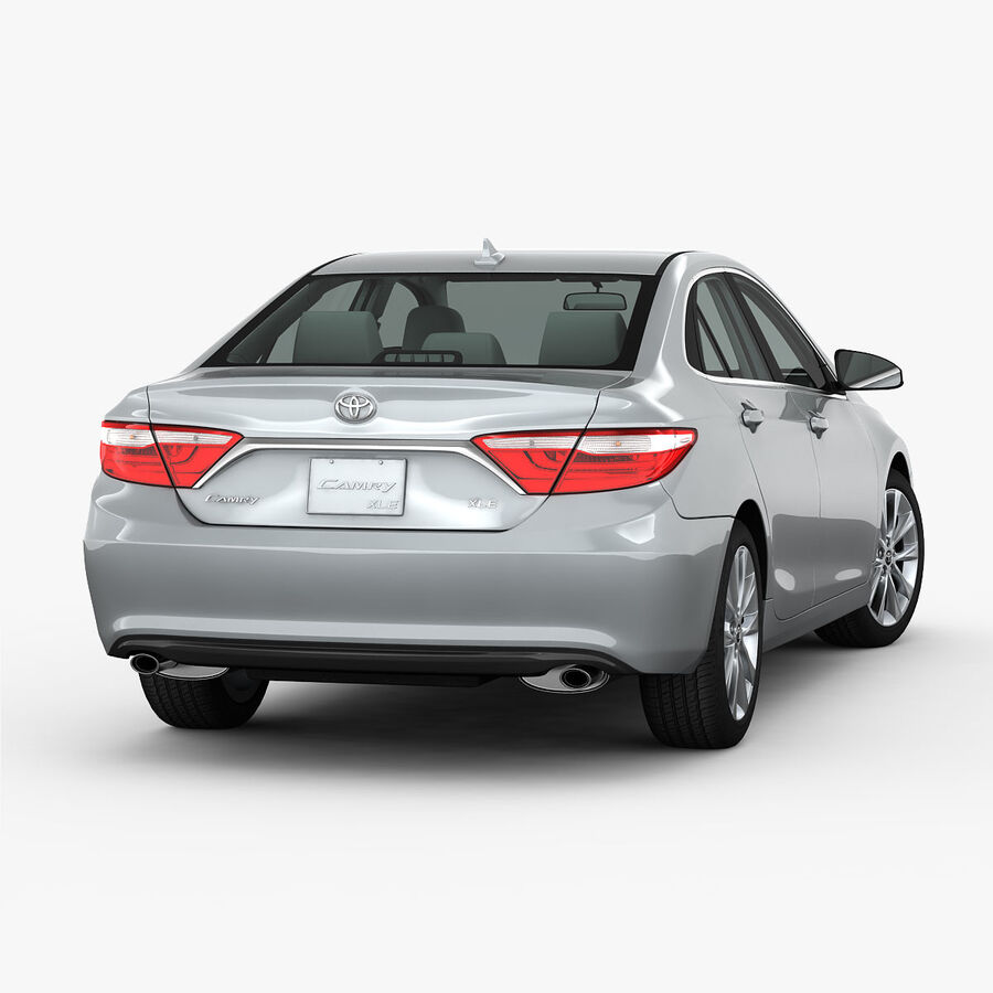 Toyota Camry XLE 2015 royalty-free 3d model - Preview no. 5