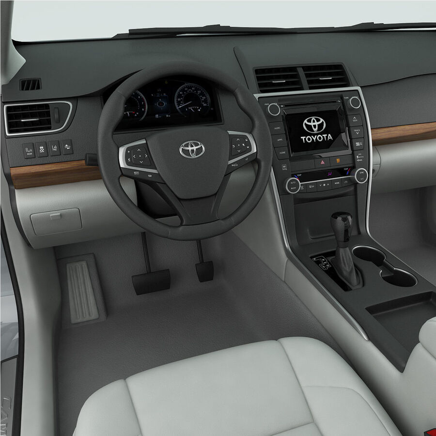 Toyota Camry XLE 2015 royalty-free 3d model - Preview no. 20