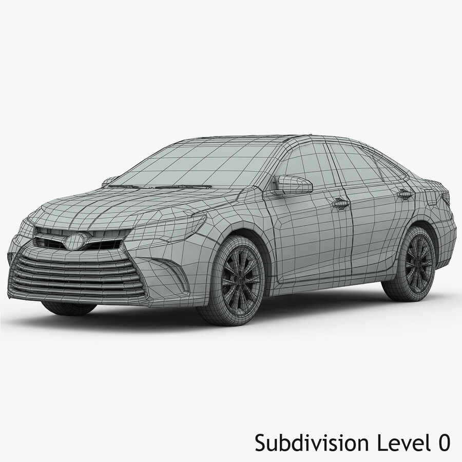 Toyota Camry XLE 2015 royalty-free 3d model - Preview no. 21
