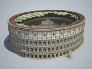 Coliseo nuevo sin daños modelo 3d