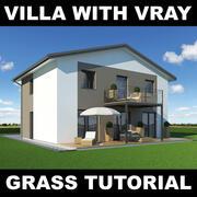 Tutoriel Villa Grass 11 3d model