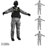 SWAT 2 LOD 3d model