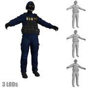 SWAT 3 LODs 3d model