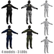 SWAT LODs 3d model