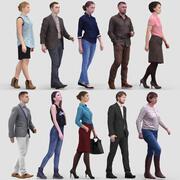 3D Модель Человека Том 1 Ходячие люди 3d model